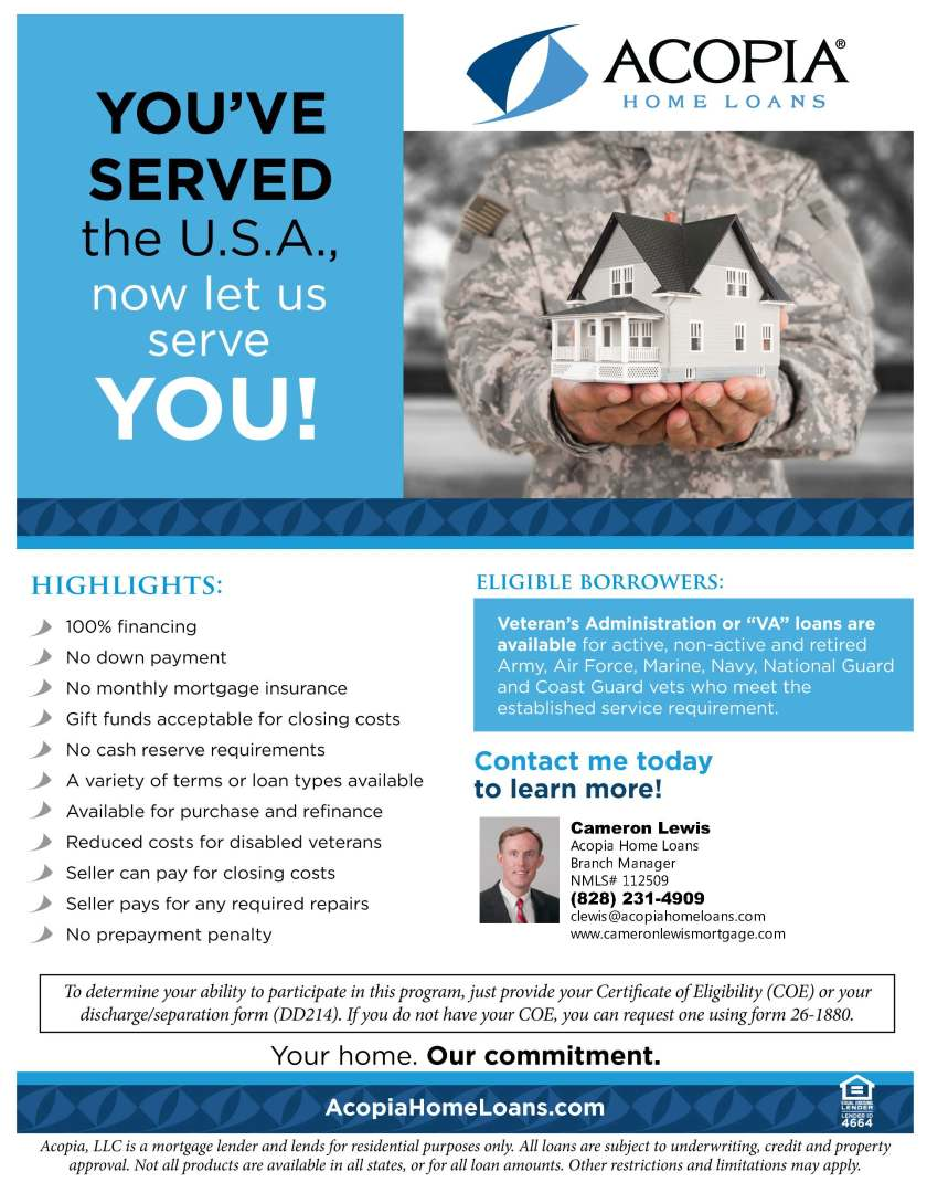 ACOPIA VA Loan Flyer